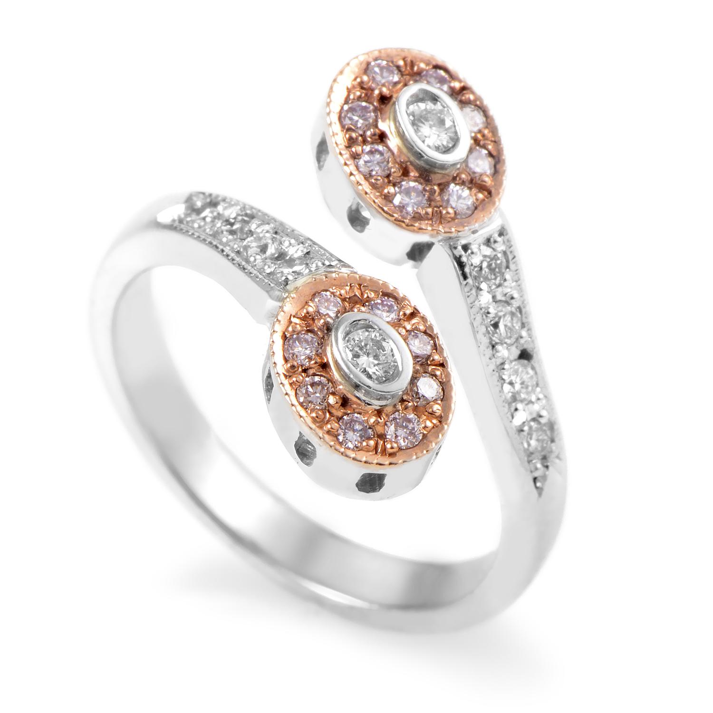 14K Multi-Tone Gold Diamond Ring CRR10015