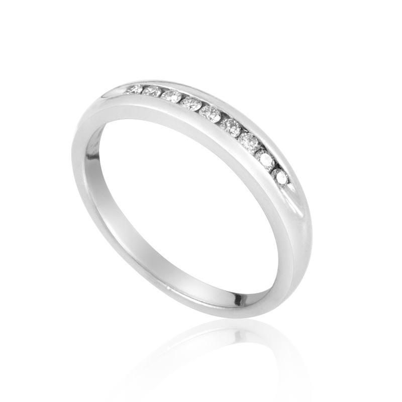 Platinum Channel-Set Diamond Wedding Band CRR10067