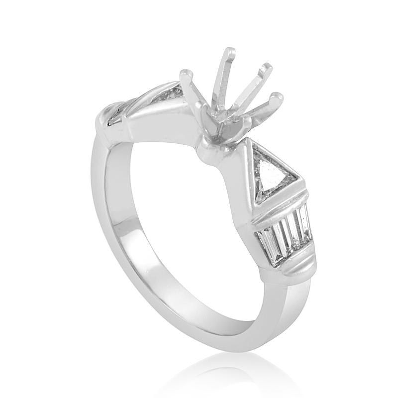Platinum Diamond Engagement Ring Mounting CRR1376
