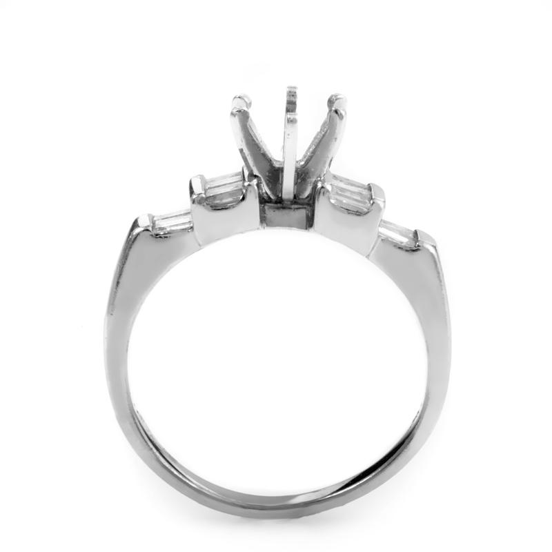bridal platinum engagement ring mounting crr2000