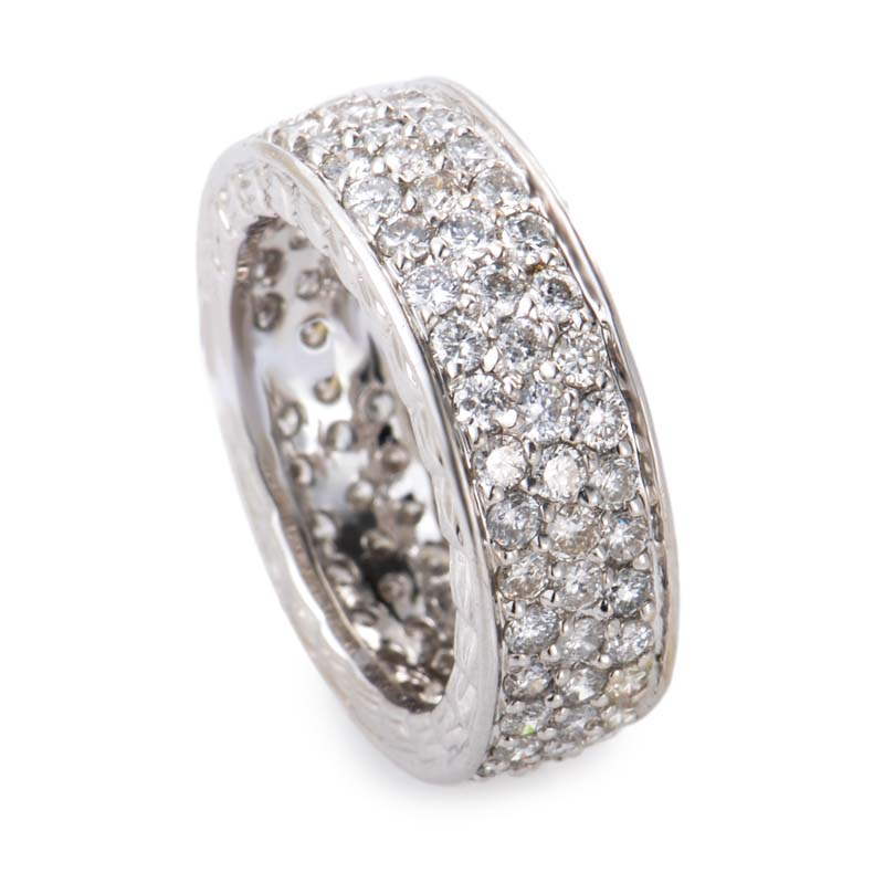 18k white gold thick band ring crr2395 ebay