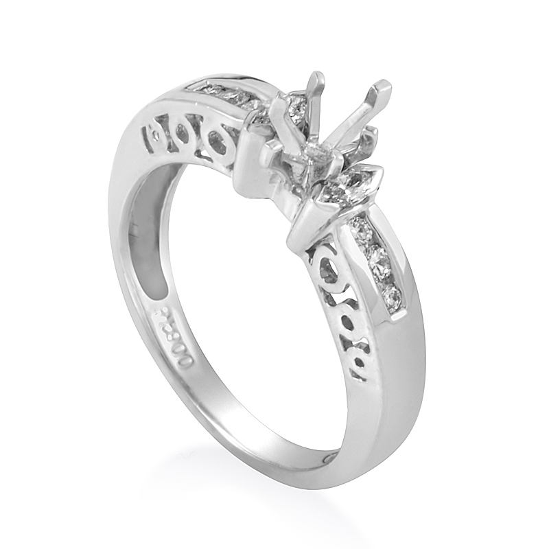 Platinum Diamond Engagement Ring Mounting CRR4084