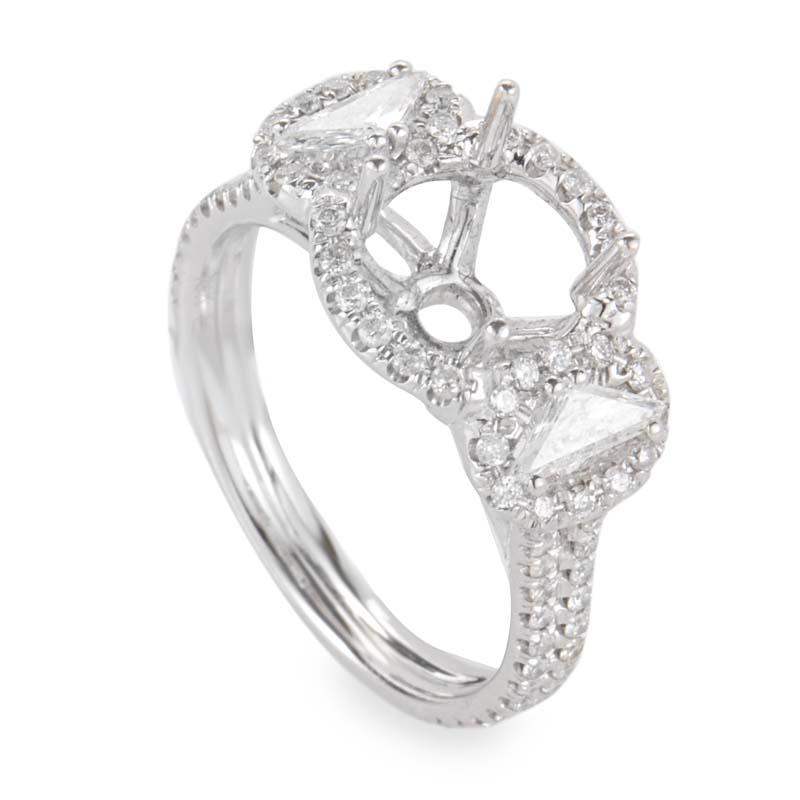 18K White Gold Diamond Mounting Ring CRR9264