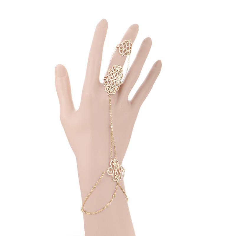 18K Yellow Gold Diamond Slave Ring/Bracelet DE85881RZZ