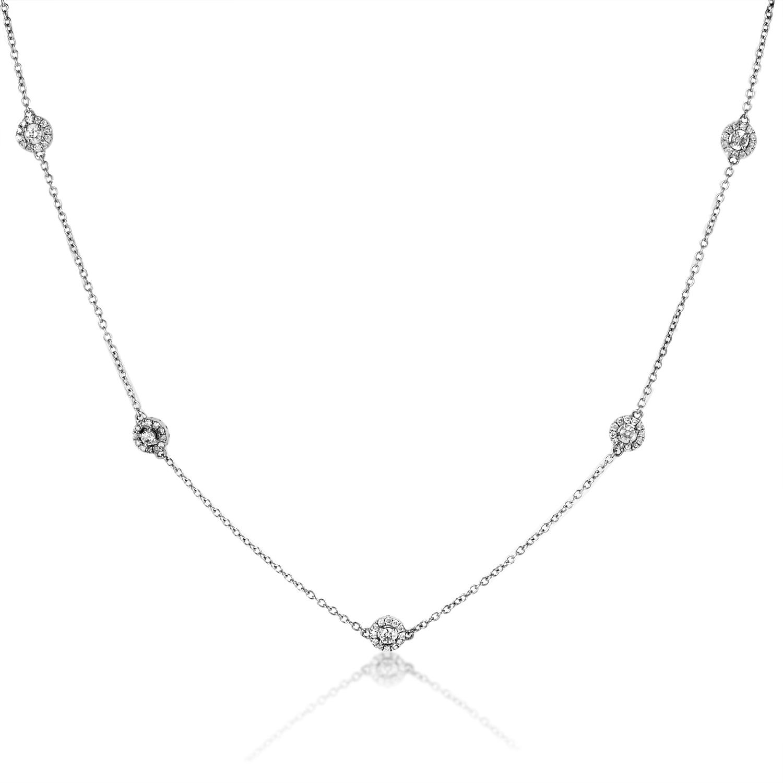 Women's 18K White Gold Diamond Choker Necklace KE4112NTBZ