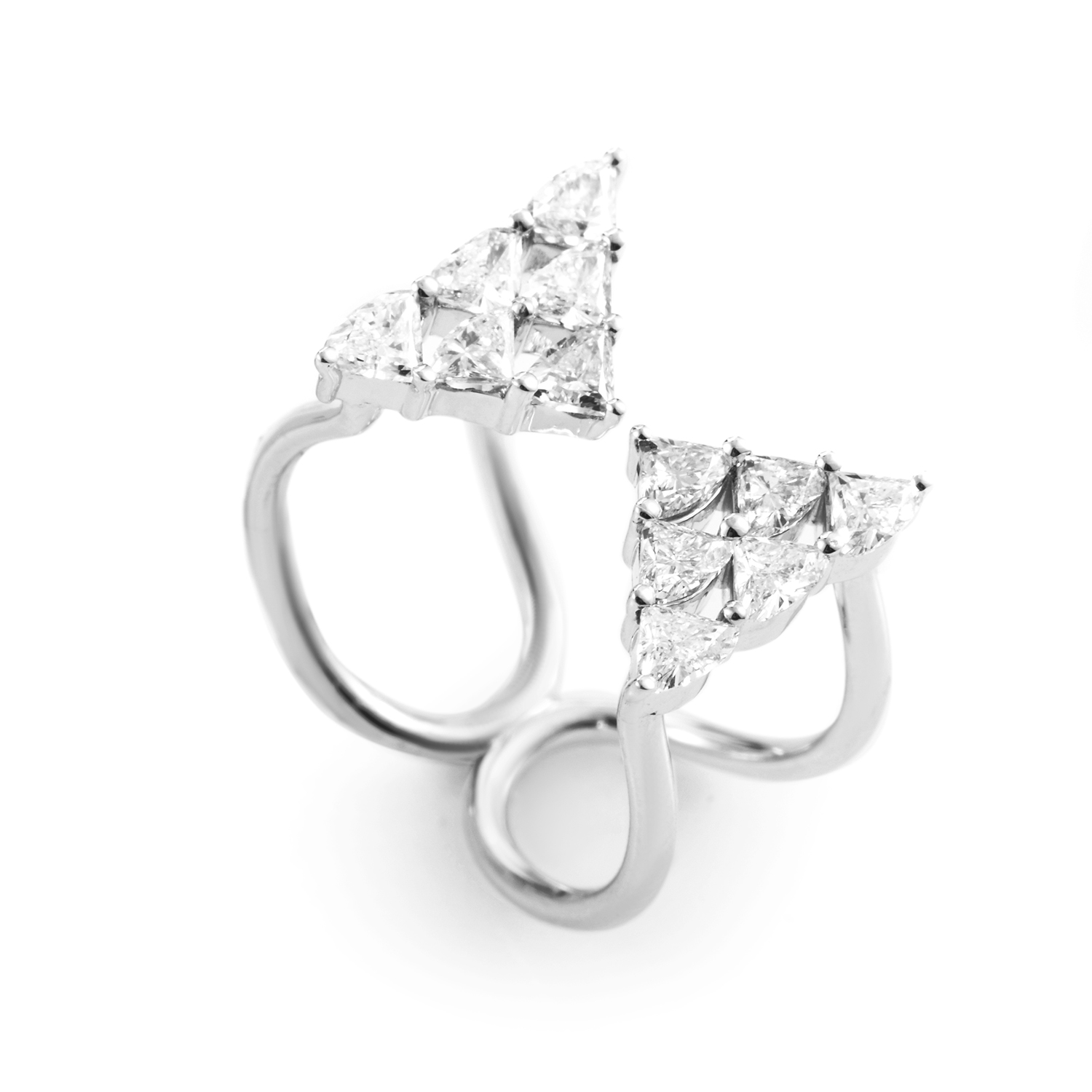 18K White Gold Diamond Ring KO081RKLBZ