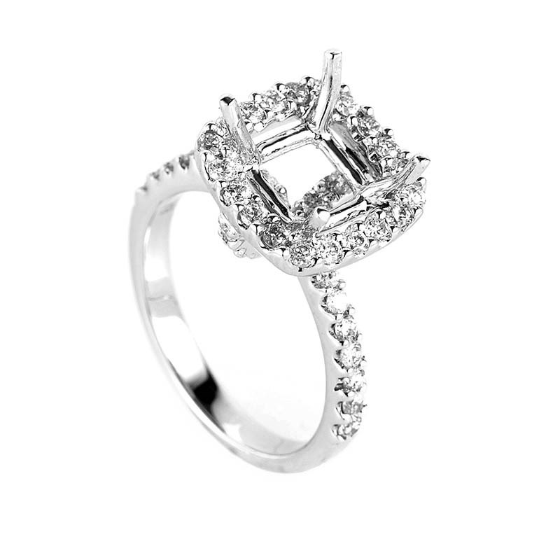 Fabulous 18K White Gold Diamond Ring Setting