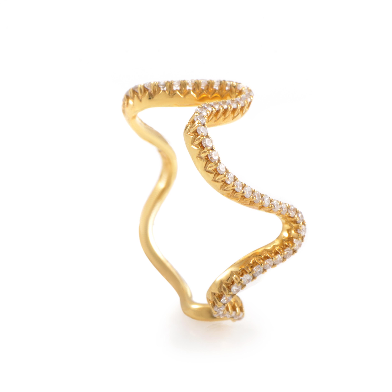 золотое кольцо зигзагом
