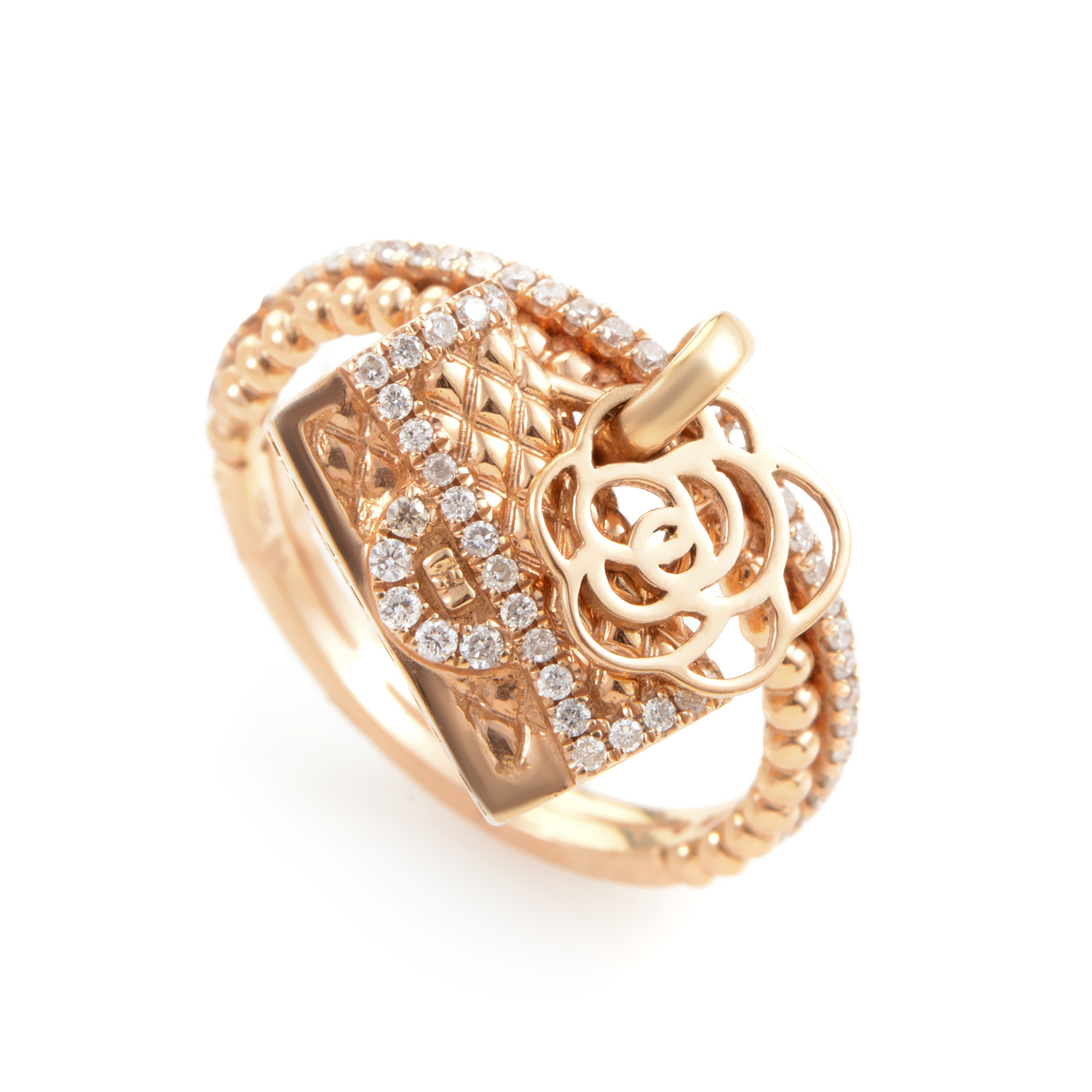 18K Rose Gold Diamond Charm Ring KO28502RERZ
