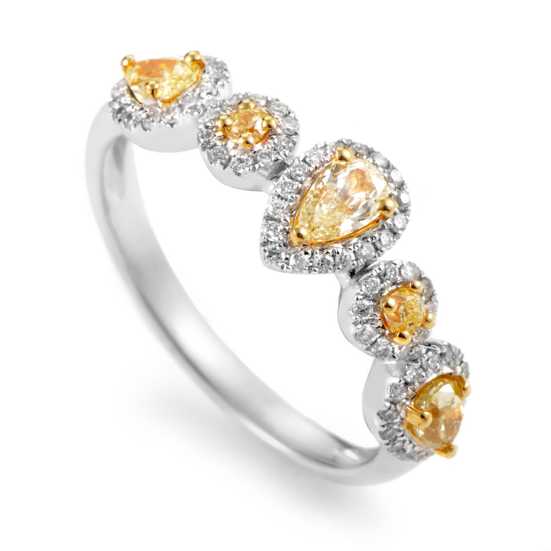 Women's 18K White & Yellow Gold Multi-Diamond Band Ring KO3544RCB/ZZ