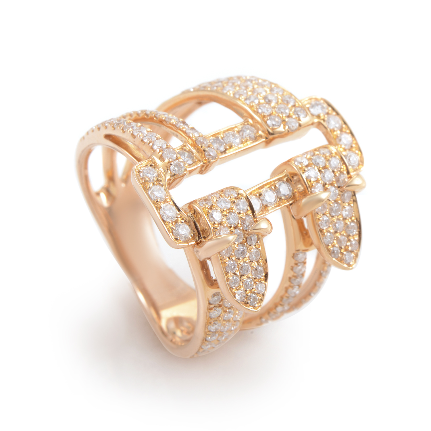 18K Rose Gold Diamond Pave Ring KO42161RRZ