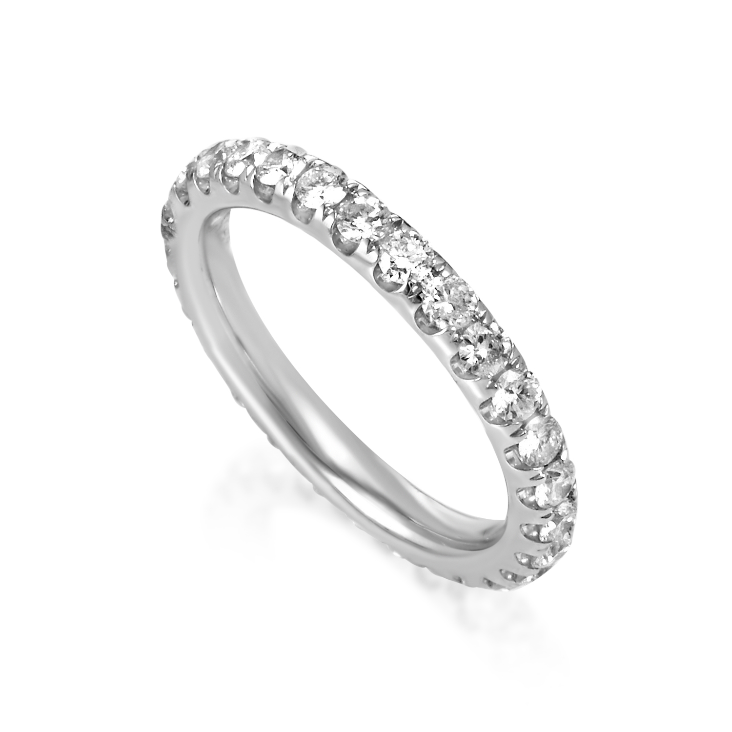 Women's 18K White Gold Diamond Eternity Band Ring KO52541RBZ