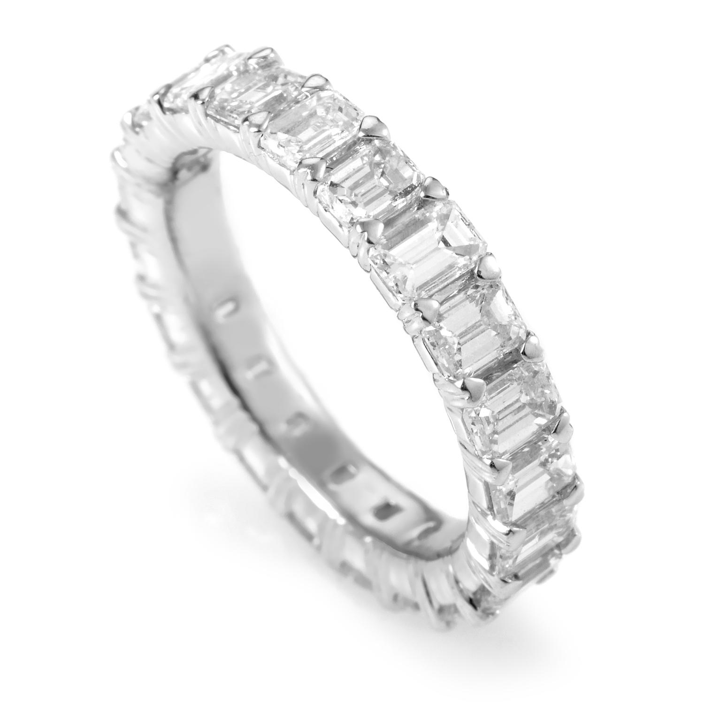 Platinum Emerald-Cut Diamond Eternity Band KO5917RTPLS