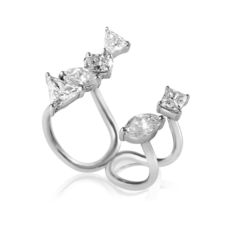 18K White Gold Openwork Diamond Ring KO771RKLBZ