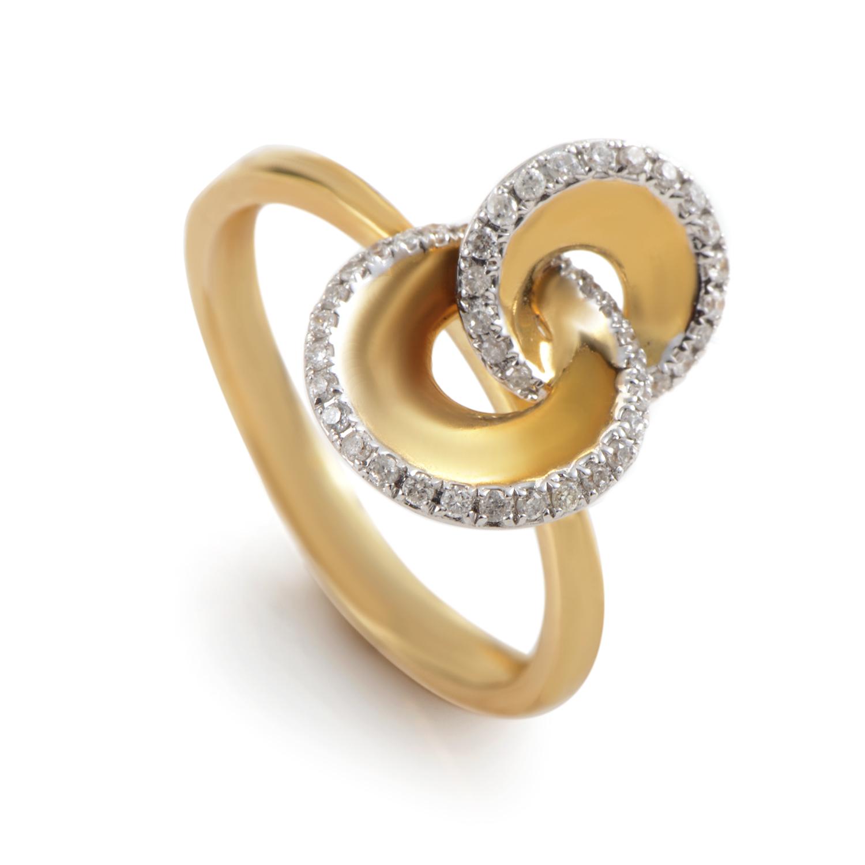18K Yellow Gold Diamond Swirl Ring KOA42264RZZ
