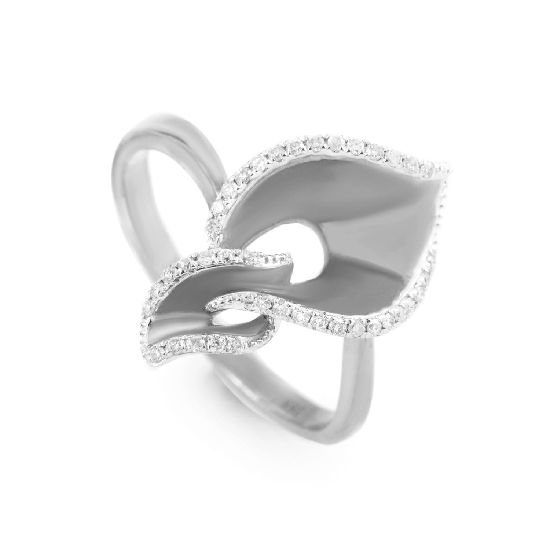 18K White Gold Diamond Ring KOA52264RBZ
