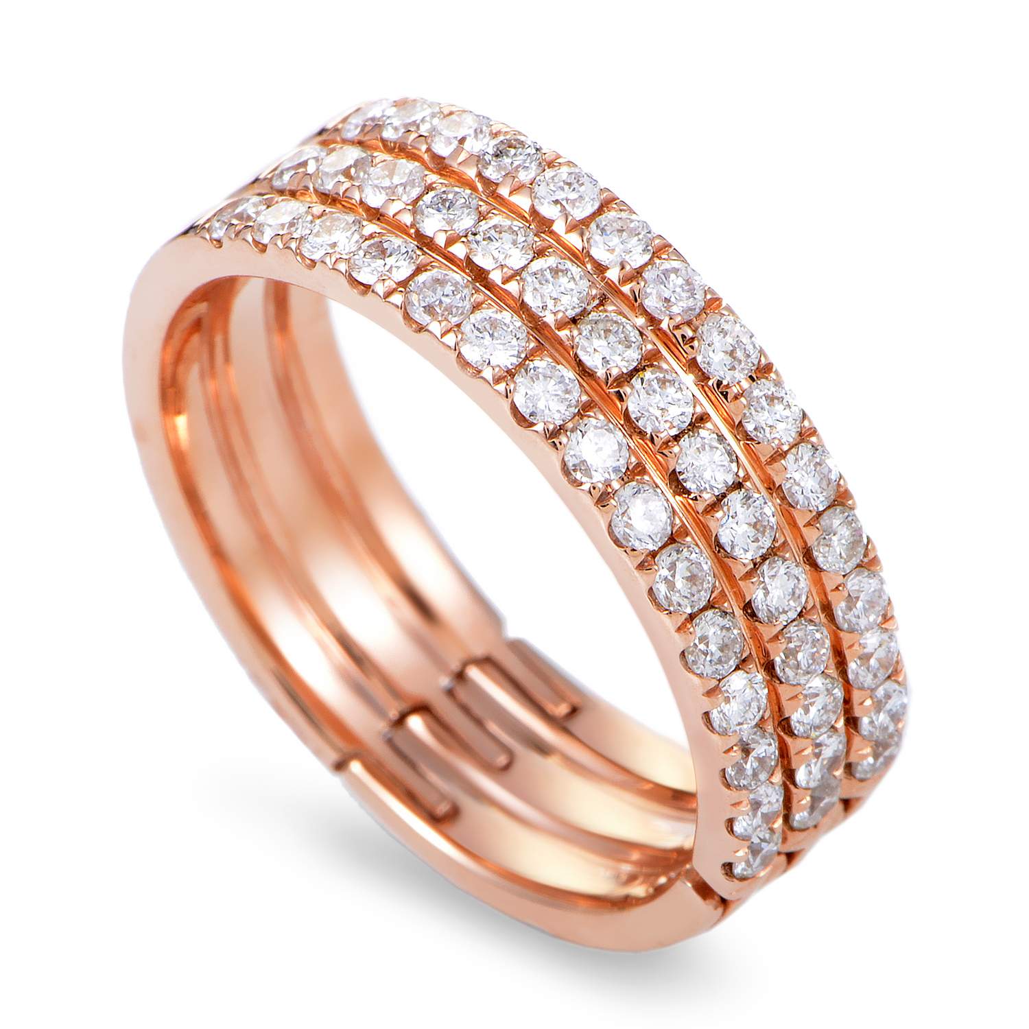 Women's 18K Rose Gold Diamond Pave Band Ring KOBW925ABRZ