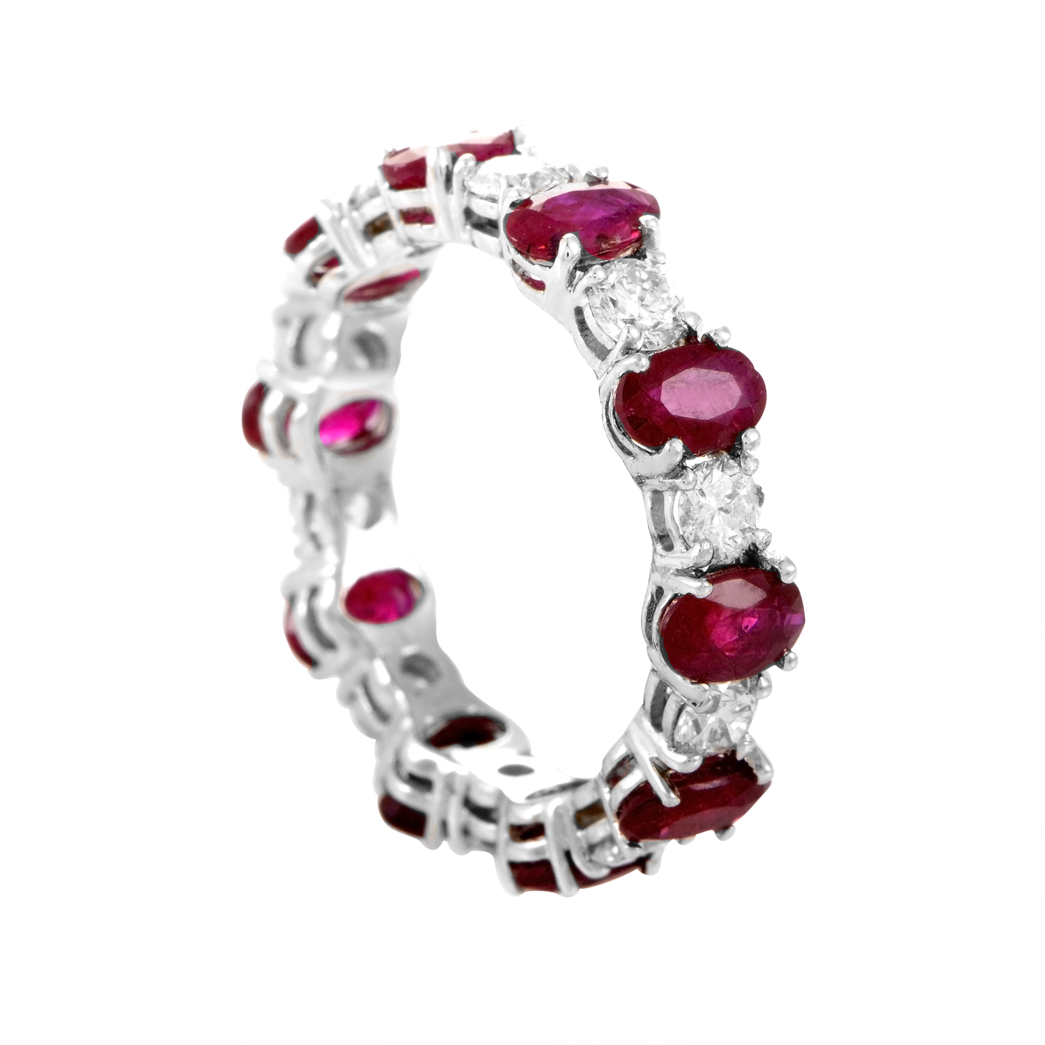 18K White Gold Ruby & Diamond Ring KORBW243ABBZ