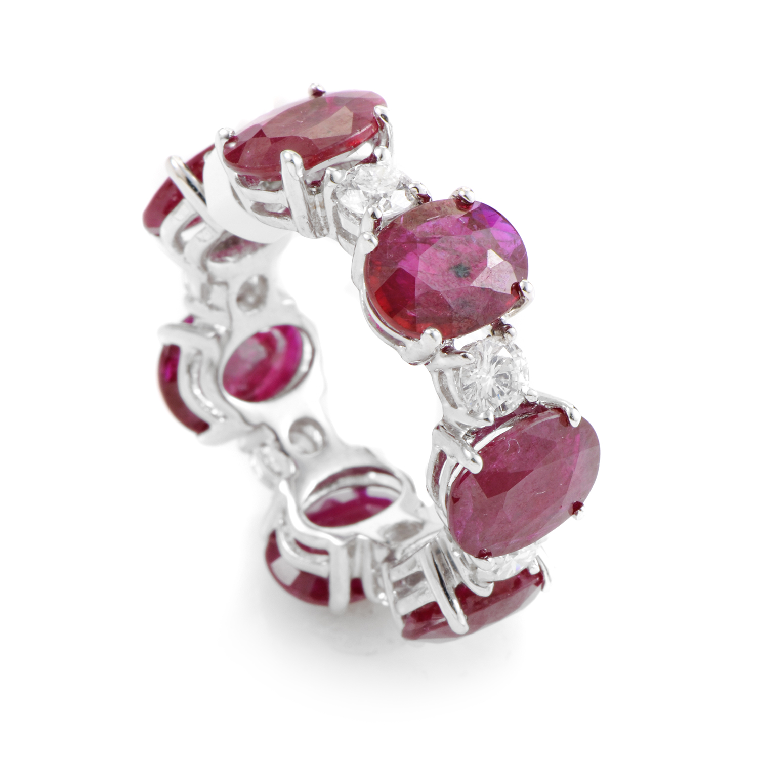 18K White Gold Ruby & Diamond Ring KORBW27ABBZ