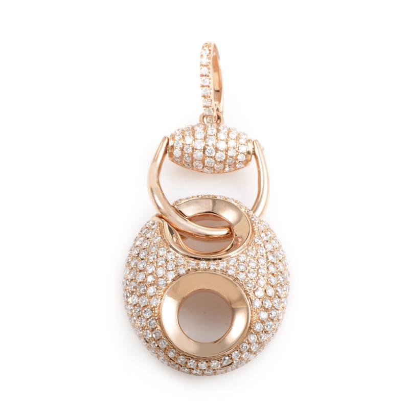 18K Rose Gold Diamond Pave Enhancer Pendant PA184821RRZ