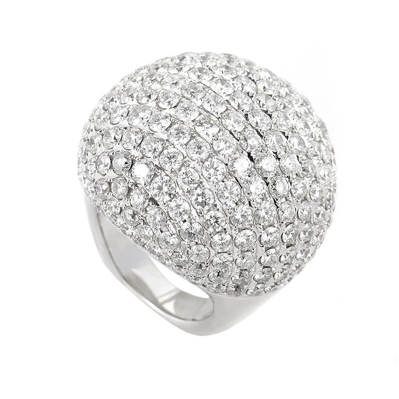 18K White Gold Diamond Micro Pave Ring R12190