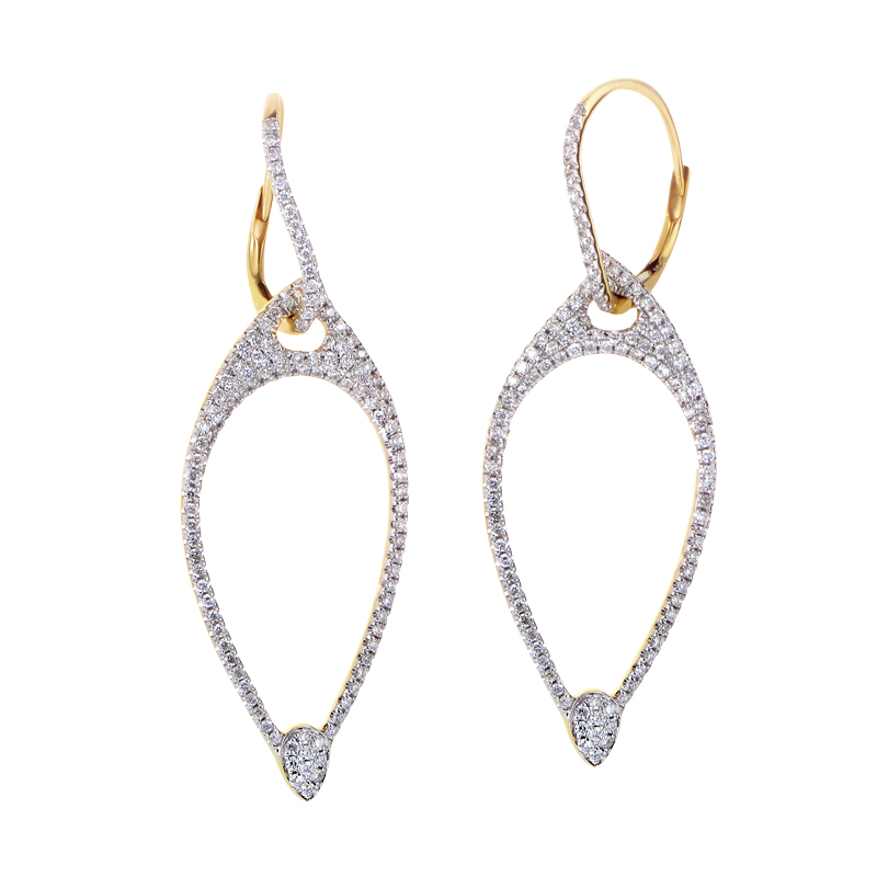18K Yellow Gold Diamond Earrings SE26061RZZ
