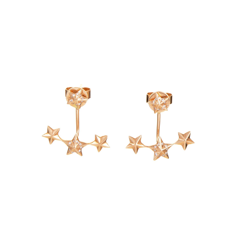 18K Rose Gold Diamond Star Earrings SE35881EFRZ