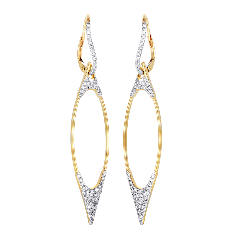 18K Yellow Gold Diamond Earrings SE36061RZZ