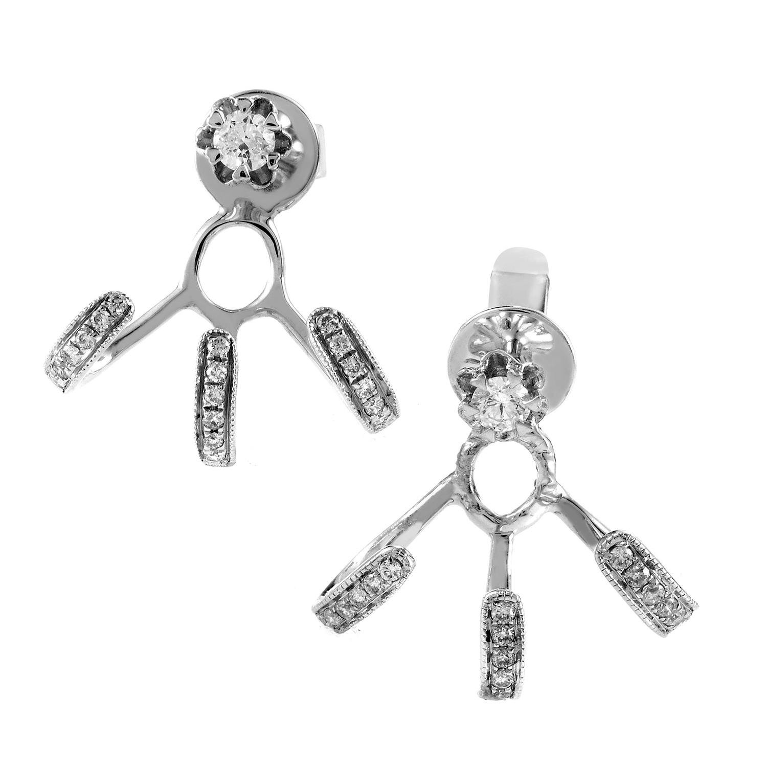 18K White Gold Diamond Earrings SE65161RBZ