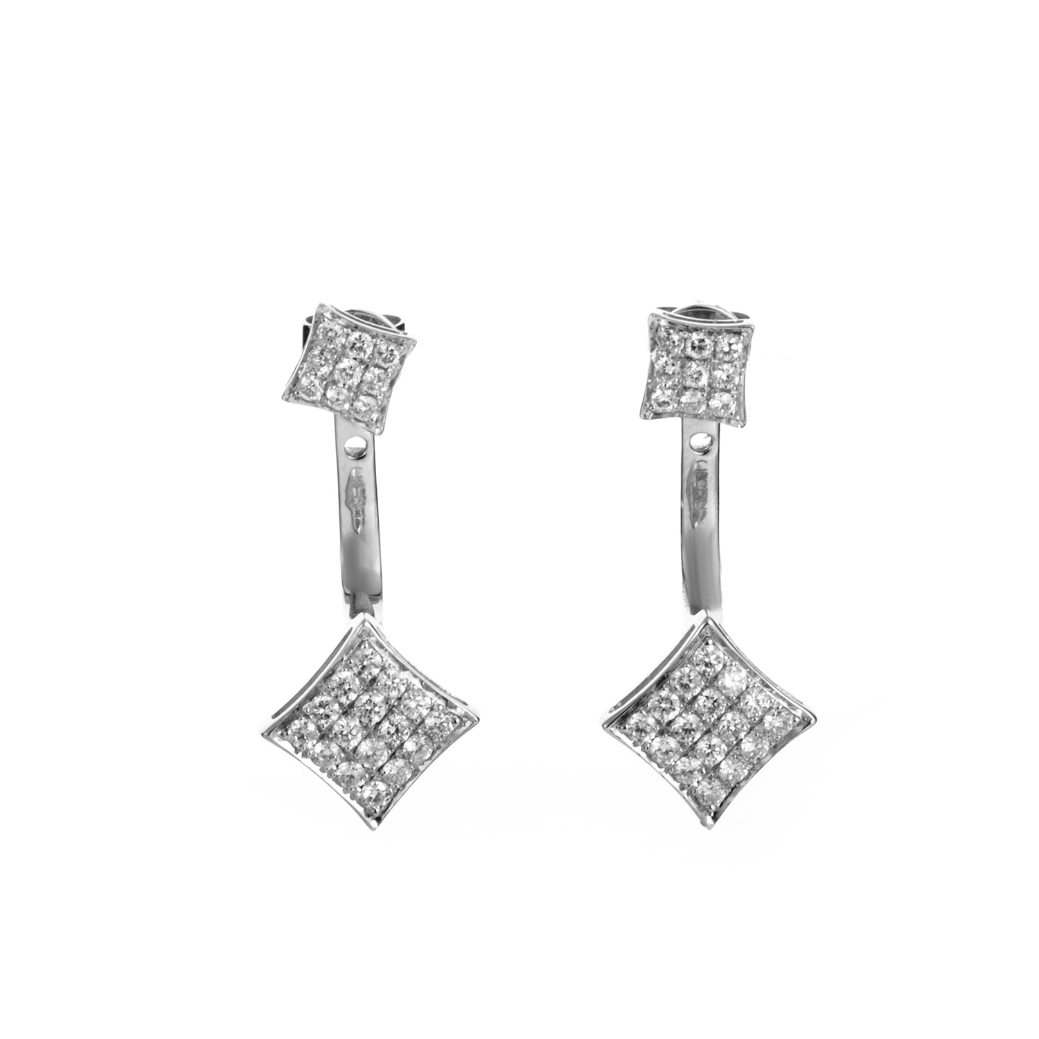 18K White Gold Diamond Drop Earrings SEW16531EBZ