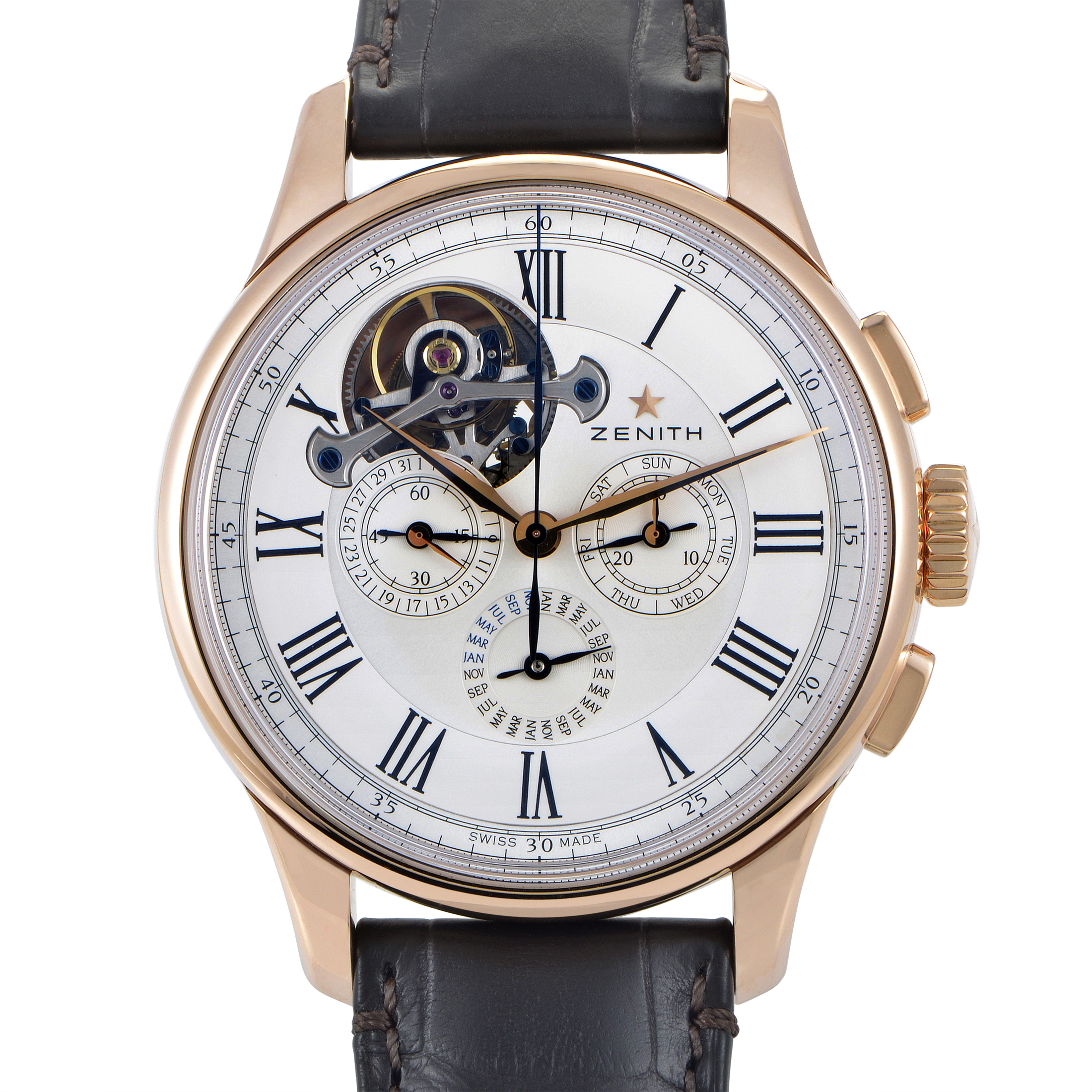 Academy Tourbillon Perpetual Calendar Men's Watch 18.2250.4033/01.C713