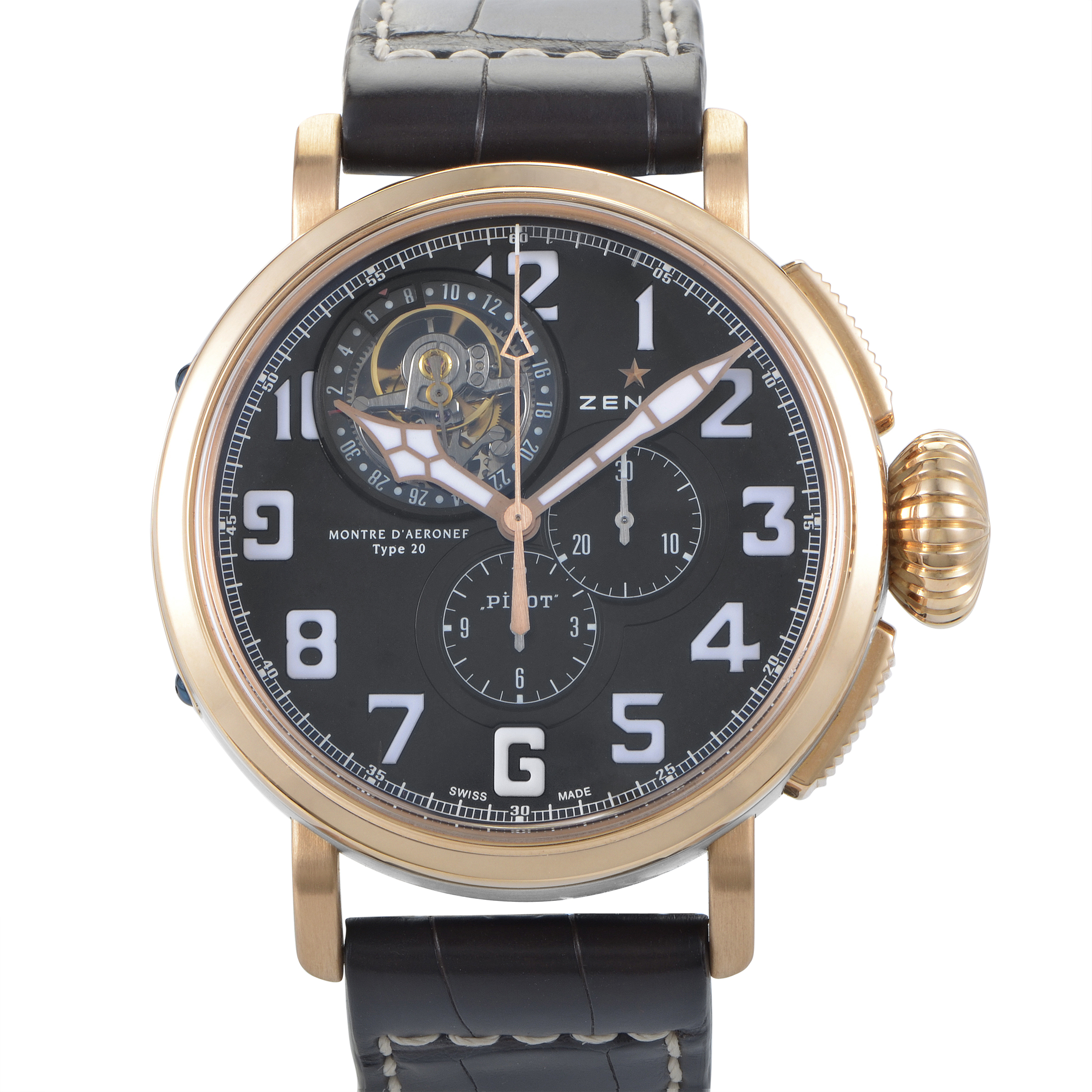 Montre d'Aeronef Type 20 Tourbillon Men's Watch 87.2430.4035/21.C721