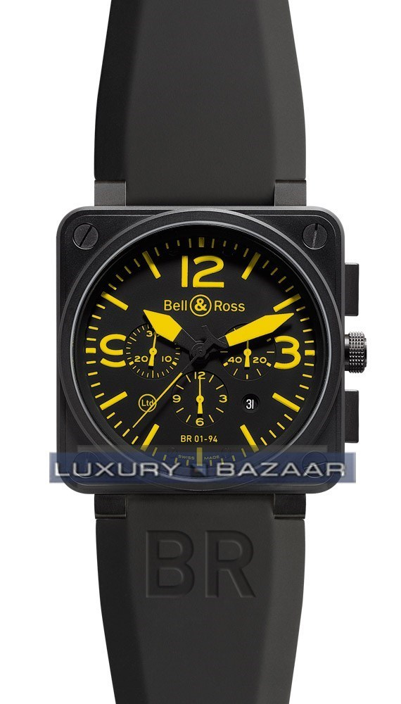 BR01-94 Chronograph Carbon Yellow