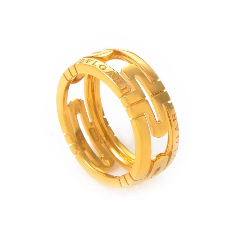 Parentesi 18K Yellow Gold Band Ring AN853961