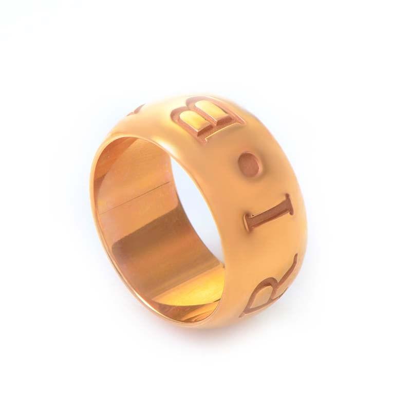 Monologo 18K Rose Gold Band Ring AN854567