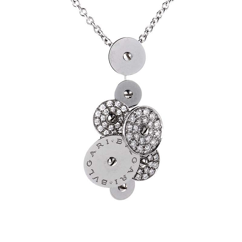 Cicladi Women's 18K White Gold Diamond Pave Pendant Necklace