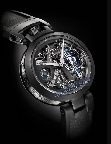 1822 Ottanta Tourbillon by Pininfarina (DLC-Titanium G5 / Skeleton / Leather Strap)