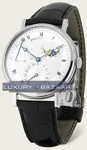 Classique Moon Phase (WG / Silver / Leather)
