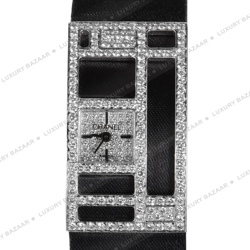 Chanel 18K White Gold Diamond Pave Case and Dial