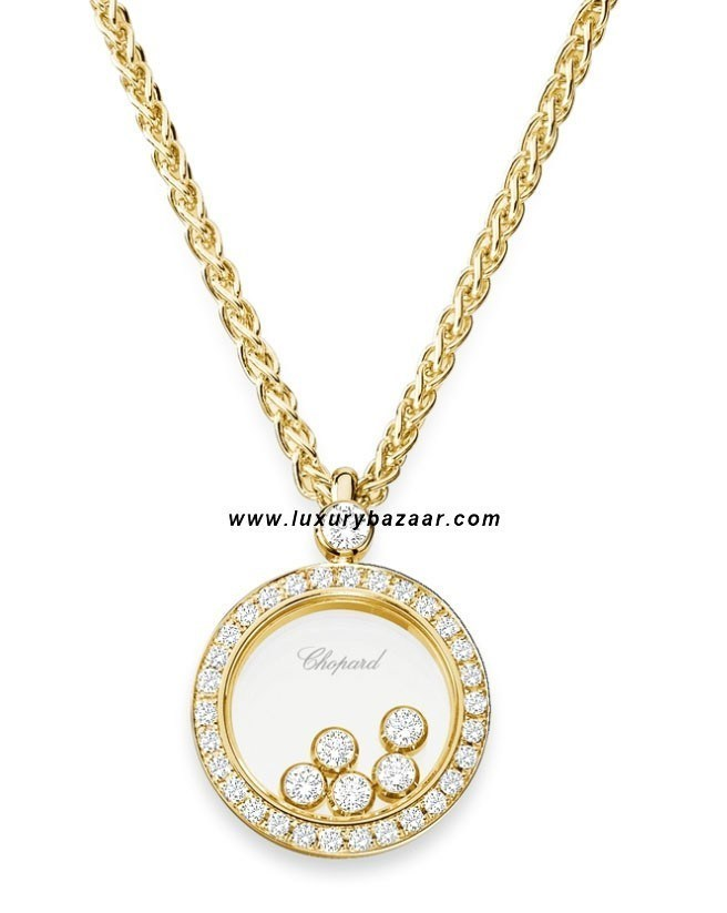 Happy Diamonds Circle 5 Floating Diamonds Set Yellow Gold 47
