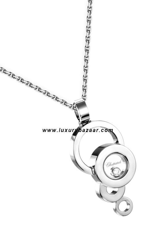 Happy Diamonds Drop Circles Floating Diamond White Gold 52