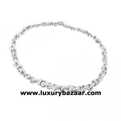 Exquisite 18K White Gold Bijoux Collier Anneau Collection Diamond Necklace