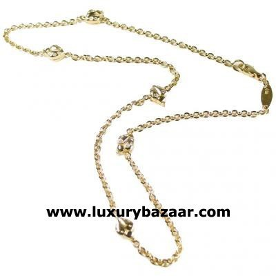 Stylish 18K Yellow Gold Bijoux Collier Animaux Collection Diamond Necklace