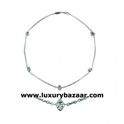 Stylish 18K White Gold Bijoux Collier Animaux Collection Diamond Necklace