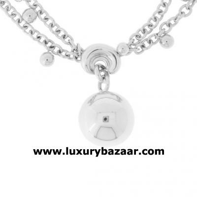 Bold 18K White Gold Bijoux Collier Boule Collection Necklace