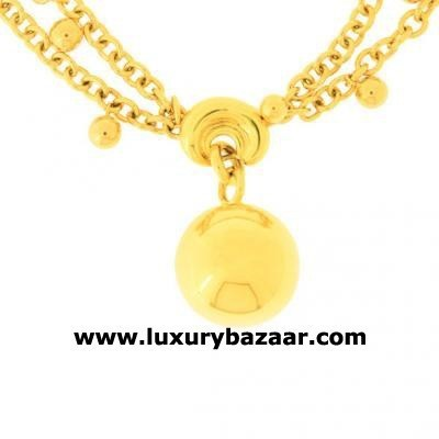 Modern 18K Yellow Gold Bijoux Collier Boule Collection Necklace