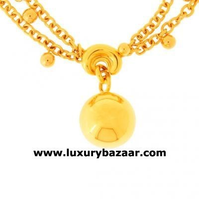 Modern 18K Rose Gold Bijoux Collier Boule Collection Necklace