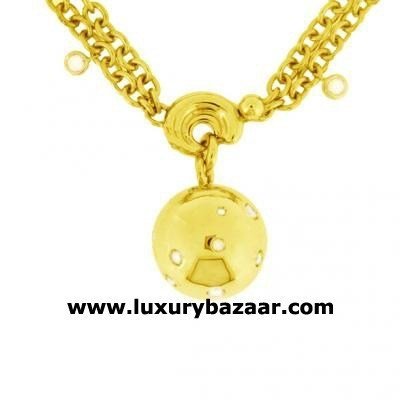 Bold 18K Yellow Gold Bijoux Collier Boule Collection Diamond Necklace