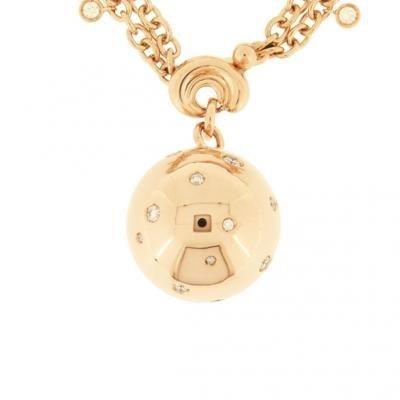 Bold 18K Rose Gold Bijoux Collier Boule Collection Diamond Necklace