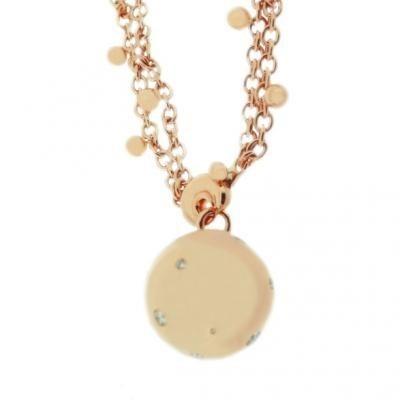 Stylish 18K Rose Gold Bijoux Collier Boule Collection Diamond Necklace